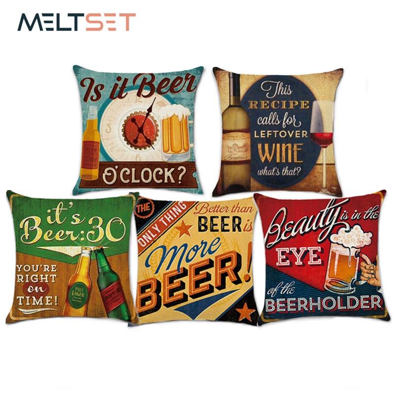 Пиво серии наволочки пива декоративные бросок наволочка Чехлы Диван автомобилей Спальня Home Decor
