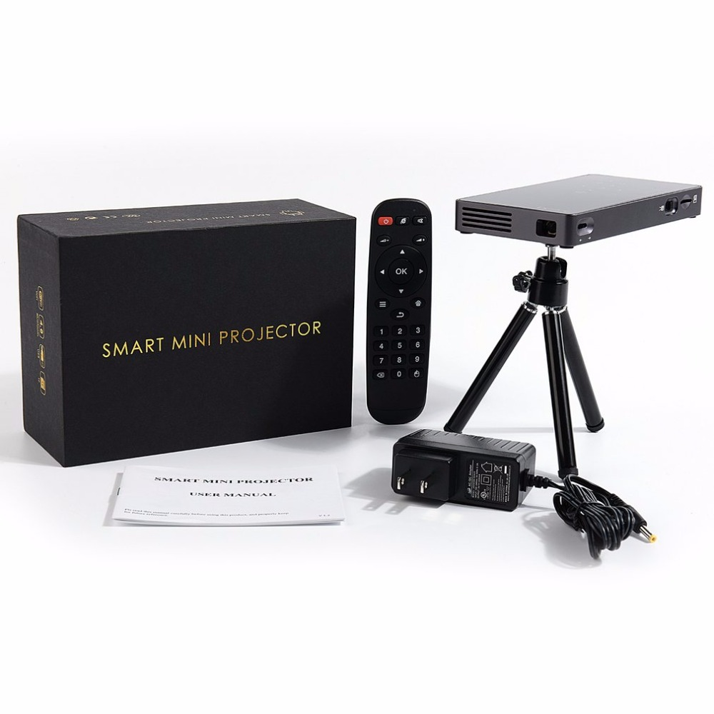 WiFi Mini DLP Projector Home Business Education For Android Wireless Bluetooth Projector HDMI/USB Theater Projetor