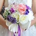 2016 Новый Стиль Ручной Работы Свадебный Свадебный Букет Искусственные Цветы Моделирование Сочные Растения Свадебные Букеты Быстрая Доставка
