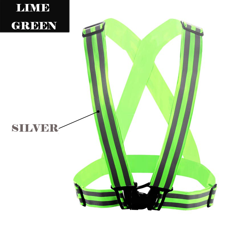 SPARDWEAR Reflective Safety Vest belt Security Double Reflective Strips waistcoat belt for outdoor night running jogging high quality safe reflective vest belt for women girls night running jogging biking