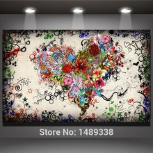 Modern Single Canvas Painting Beautiful Heart Artwork High Quality Wall Pictures Home Living Decor