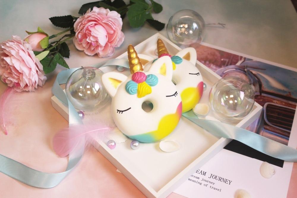 Купить с кэшбэком 2CM big squishy slow rising jumbo lanyard Squishy Slow Rising Pink unicorn Doughnut squeeze lanyard for keys groot phone strap