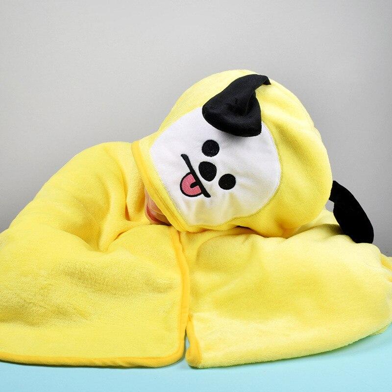 Hooded Cloak BT21 Blanket Bath Towel Kawaii Cartoon K Pop BTS Bangtan Boys Korean Style Fashion CHIMMY TATA KOYA COOKY SHOOKY