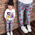 2-8 year-old baby girl jeans Spring and Autumn the new children's casual pants children jeans personalized printing