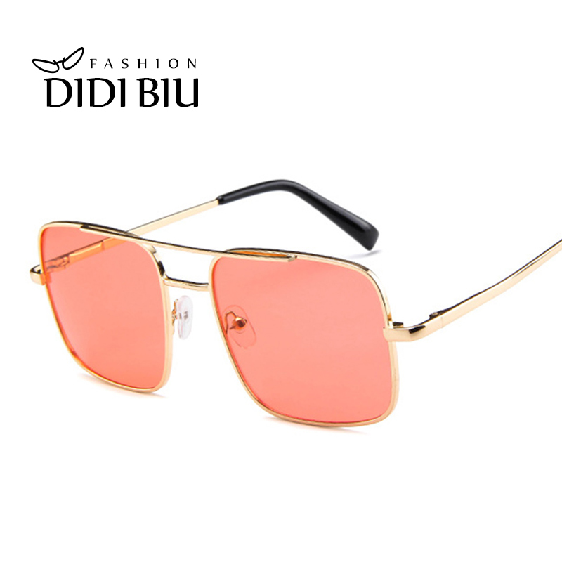 Women Oversized Square Sunglasses Fashion Gradient Double Color Ocean Lens Glasses UV400 Shades Decoration Eyewear Oculos UL1112 in Women 39 s Sunglasses from Apparel Accessories