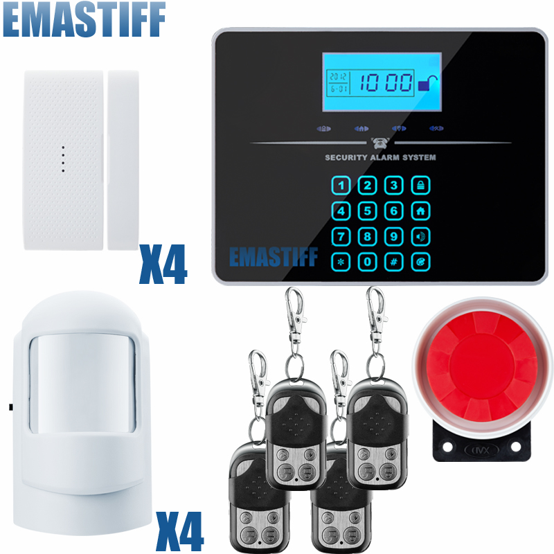 Free shipping Russian and English Voice Touch LCD GSM and PSTN Home Security Alarm system gsm alarm system free shipping 850 900 1800 1900mhz english russian voice dual net touch keypad lcd display gsm pstn net security system alarm