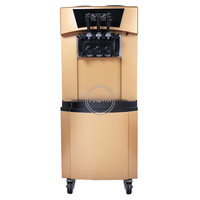 High quality 3 flavors 22 30L/h soft ice cream machine sweet cone ice cream maker with wheels