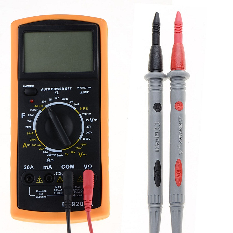 1Pair 3010B  Heavy Duty Multimeter Voltmeter Rubberized Test Probe Leads Wire Pen Cable 1000V 10A SR1GP30P0.3