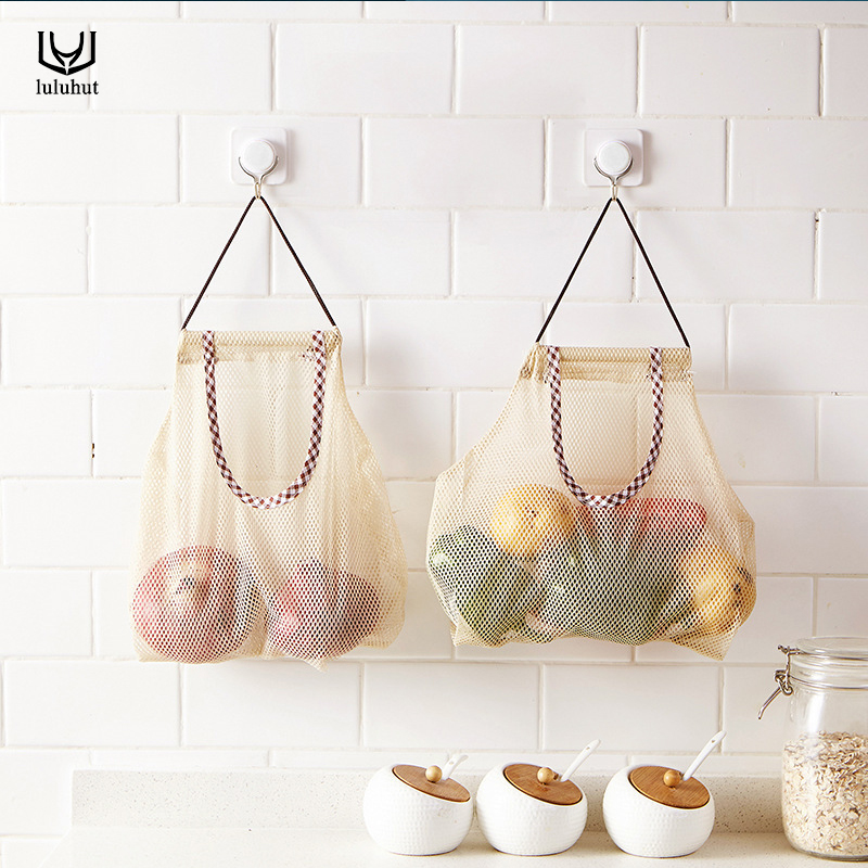 luluhut konyha zöldség tároló táska üreges lélegző gyümölcs - Szervezés és tárolás