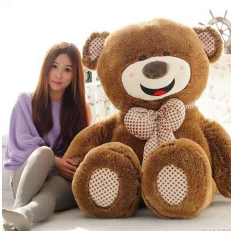 Teddy Bear Big Huge Pillow Giant 100cm Teddy Bears Stuffed Animal Plush Toy Gift Plush Ted Doll Toys For Valentine's Day Gift fancytrader big giant plush bear 160cm soft cotton stuffed teddy bears toys best gifts for children