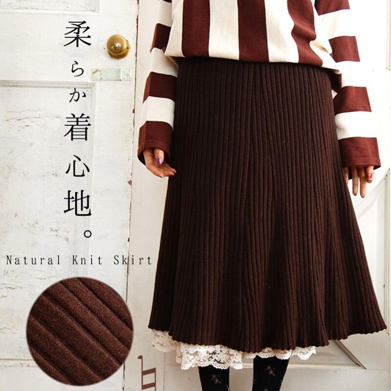 Tricoter Mori And À Ensembles Dames T613 Douce Deux Tricoté Sweater Skirt Vêtements Pulls Laine Rayé Jupes Fille Costume Femmes Et Chandail Cookie Pièces zpUVSM