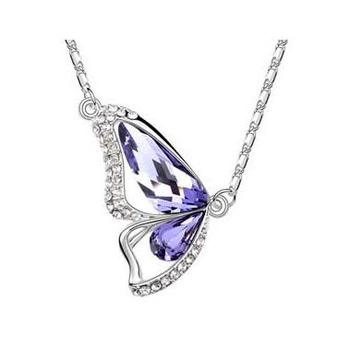 Butterfly Wing Austria crystal Necklace 2