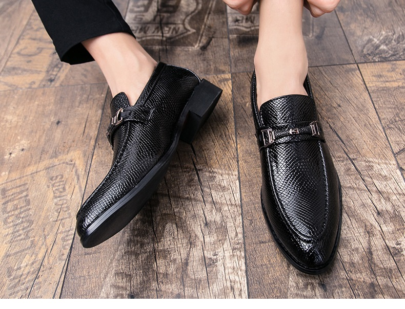 New Spring Autumn Man Dress Shoes fiber Pointed Toe Breathable Fashion Sleeve Business Wedding Oxford Formal Shoes for Meal (12)