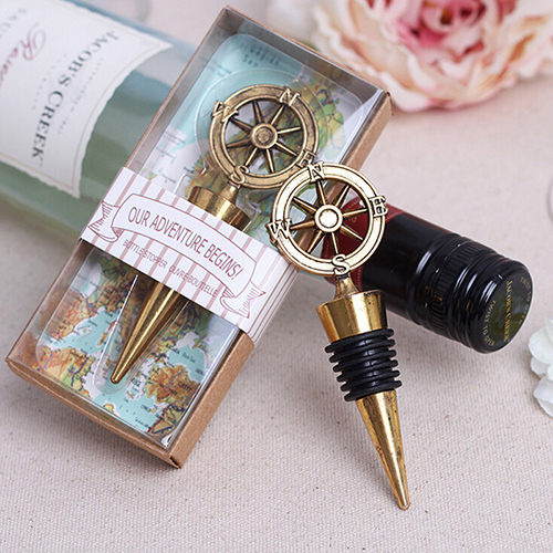 1pcs Golden Comp Wine Stopper Wedding Favors And Gifts Bottle Opener Bar Tools For Party Supplies In Openers From Home Garden On