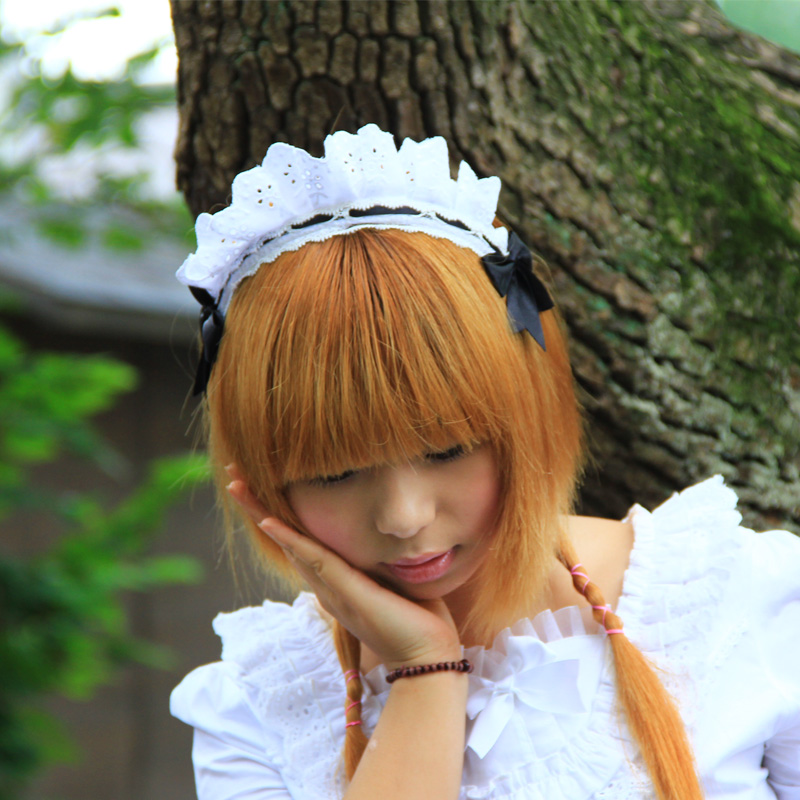 Sweet hair accessory lace hairpin hair accessory lolita hair bands cosplay cos hair band bow