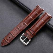 Watch Band Genuine Leather Straps Buckle 12mm 18mm 20mm 14 16mm 22mm 24mm Watch Accessories High Quality Brown Colors Watchbands стоимость
