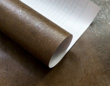 купить Embossed Vintage Brown pvc Self Adhesive Wallpaper Roll Waterproof Sticker  Vinyl Film по цене 1113.74 рублей