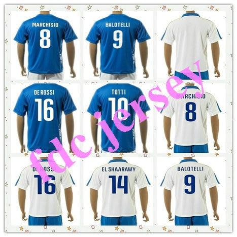 bc1aa9531987d Grado superior uniformes Kit 2015-2016 BUFFON   TOTTI 21  PIRLO azul DE  ROSSI