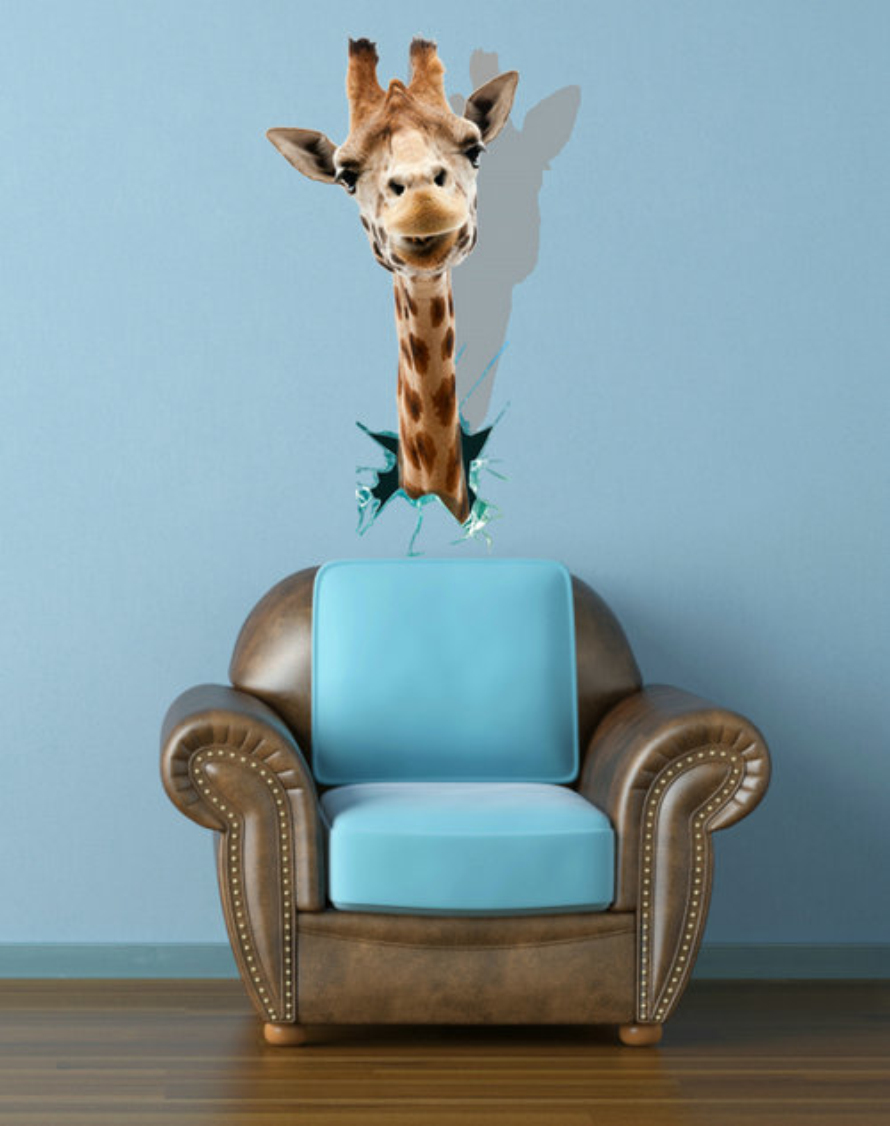 Popular giraffe wall decor buy cheap giraffe wall decor for 3d wall decals