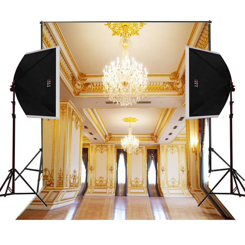 crown lights golden wall decor background for wedding photography ...