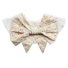 Premium Quality New 360 Degree Cotton Floral Pattern Baby Bibs Rotation Round Saliva Towel Bow Style Big Flower Bib round big flower pattern beach throw