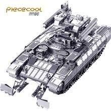 лучшая цена Piececool 3D Metal Puzzle Figure Toy BMPT Tank model Educational 3D puzzl Model toys DIY laser cut hand jigsaw Sets For Children