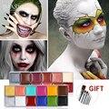 IMAGIC 12 Farben Flash Tattoo Gesicht Körper Malen Ölgemälde Kunst verwenden in Halloween Party Phantasie Kleid Schönheit Make Up Tool-in Body Painting aus Haar & Kosmetik bei