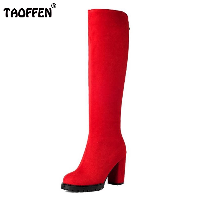 Size 32 -45 Women Stretch Slim Thigh High Boots Ladies Sexy Fashion Over The Knee Boots Woman Square High Heel Shoes Botas