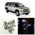 12 unids Blanco Bombillas LED Interior Kit Package Para Chevy 2000-2006 Chevrolet Suburban 1500 Dome Matrícula lámpara Chevy-B-15