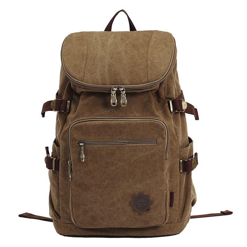 Fashion Vintage Canvas backpack Men s backpack school bag drawstring backpack 2016 bagpack rucksack mochila