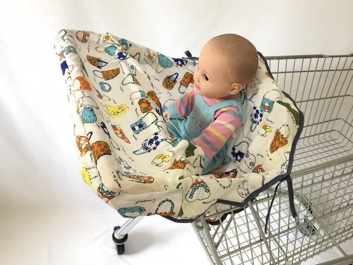 Младенческий супермаркет корзина для покупок, чехол для детского сиденья, анти-грязный чехол, детское сиденье для путешествий, подушка, не грязный, портативный - Цвет: Cartoon Bags