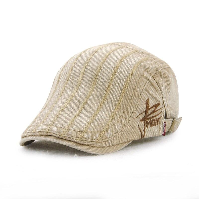 Masculino feminino listrado francês boinas boina chapéu ocasional chapéu  bico de pato mulheres homens plain jornaleiro cap gorras osso casquette  repicado ... fe56d8f11b4