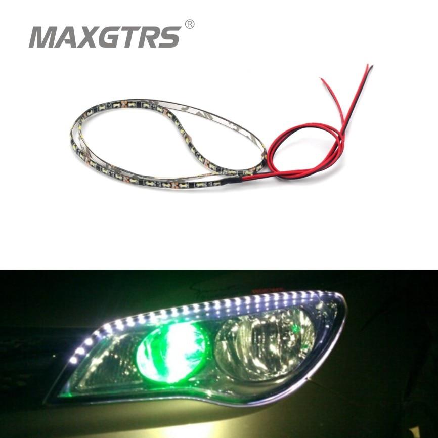 цены на (Can Cutting) 4Pcs/Lot 60cm Waterproof Light 335 60 SMD Side Shine Car Flexible LED Strips Auto DRL Lamp Car Styling в интернет-магазинах