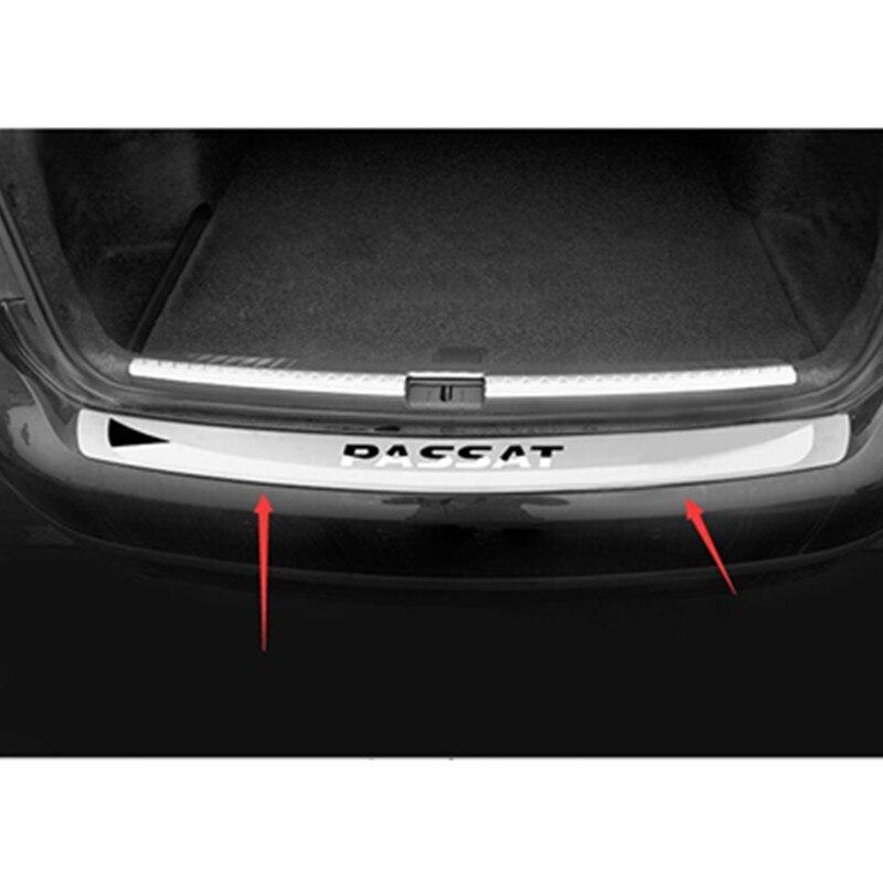 Seuil de protection de pare-chocs arrière en acier inoxydable de haute qualité pour 2011 2012 2013 2014 Volkswagen Passat B7 (98 cm)