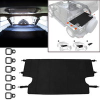 1x Car Rear Trunk Cargo Luggage Protective Cover Replace For Jeep Wrangler JKU Sports FD170308 FBA J151228 B Auto Accessories