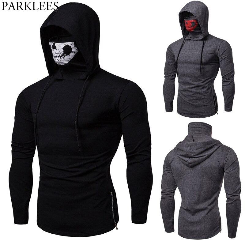 Aliexpress.com : Buy Skull Mask Hooded Tshirt Men