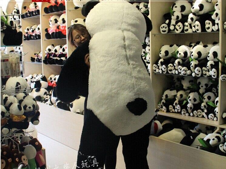 CHAUDE 180 cm en peluche panda peau manteau grand animal peau cadeaux d'anniversaire cadeaux De Noël jouets en peluche poupée - 4
