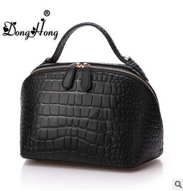 ФОТО DongHong Brand fashion designer women handbag Shoulder Satchel Bag cowhide shell bag Korean style messenger bag