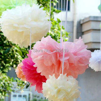 Free Shipping 50pcs Mixed sizes Tissue paper Pom Pom set - pick your colors