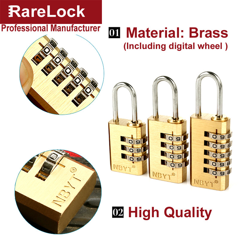 цена на Rarelock Combination Lock Digital Password Lock Plus Padlock For Cabinet Box Game Luggage Bag Locks a