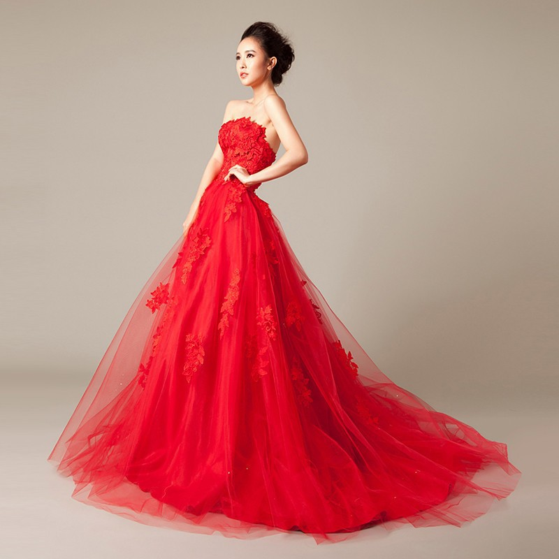 Online buy wholesale red wedding dress from china red for Where to buy red wedding dress