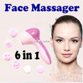 With Retail Box 6 in 1 Cleansing Brush Facial Skin Machine Cleanser Machine Dynamic Face Massager
