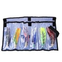 6 Pz 3D Occhi Polpo Squid Jig Esche Da Pesca Crankbait Tackle Esca Artificiale Set