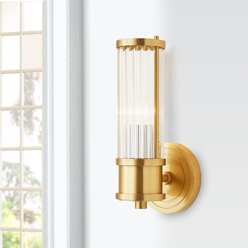 Modern indoor solid brass Wall Sconce lighting crystal ...
