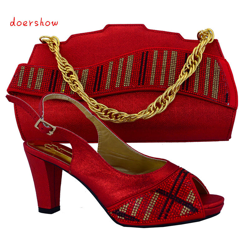doershow Italian Shoes With Matching Bags African Women Shoes and Bags Set Free Shipping!HVB1-15 doershow fast shipping fashion african wedding shoes with matching bags african women shoes and bags set free shipping hzl1 29