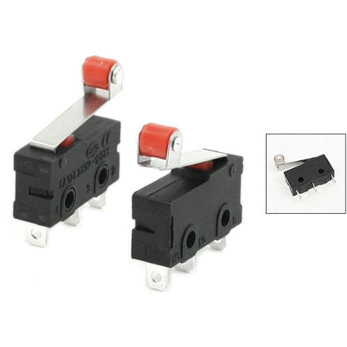 WSFS Hot 10 Pcs Mini Micro Limit Switch Roller Lever Arm SPDT Snap Action LOT