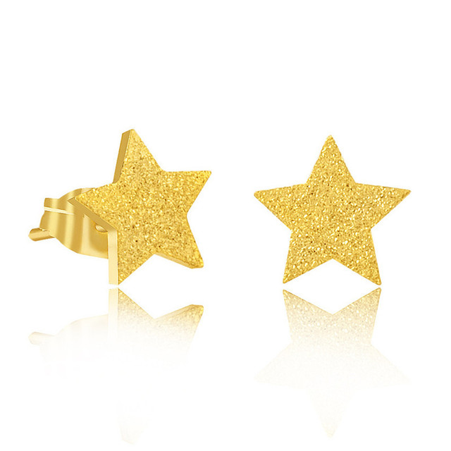 Minimal Shiny Star Earring For Women Modern Jewelry Best Friend Gifts Five Pointed Ear