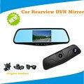 """4.3 """" 1080 P del coche DVR coche que invierte la cámara Dual de la lente de detección de movimiento de coches espejo retrovisor con envío soporte especial"""