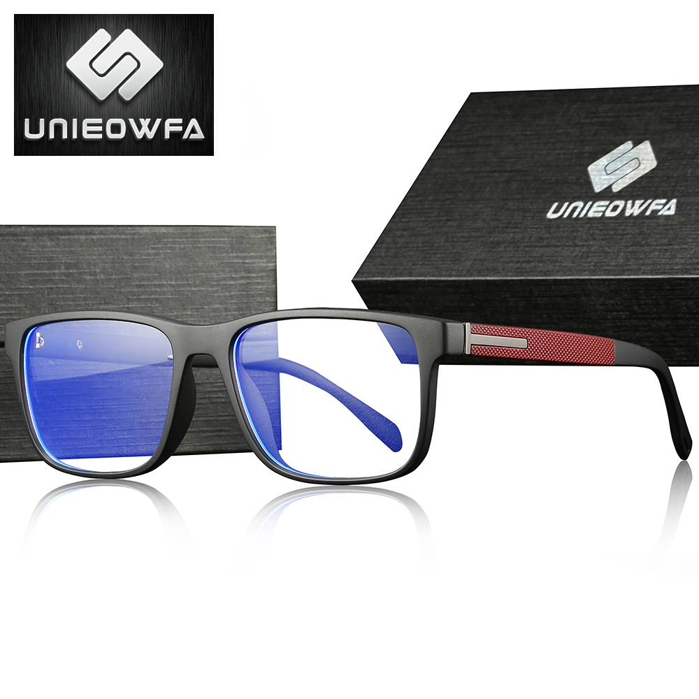 Image 2 - UNIEOWFA Photochromic Prescription Glasses Men Optical Blue Light Blocking Spectacles TR90 Frame Myopia Progressive Eyeglasses-in Men's Prescription Glasses from Apparel Accessories