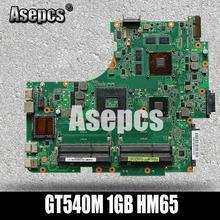 Asepcs N53SV материнская плата для ноутбука ASUS N53SN N53SM N53SV N53S N53 Тесты Оригинал материнская плата GT540M 1 ГБ HM65